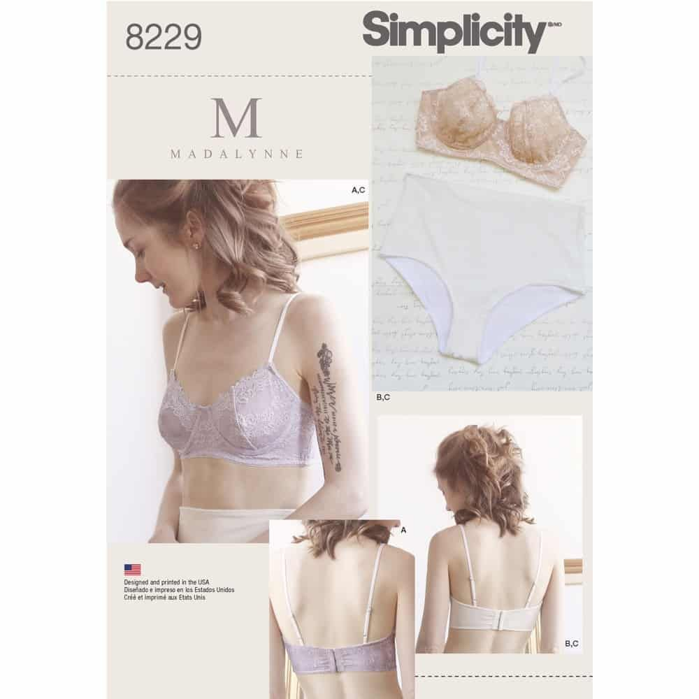 Simplicity Sewing Pattern 8229 Misses Underwire Bras and Panties