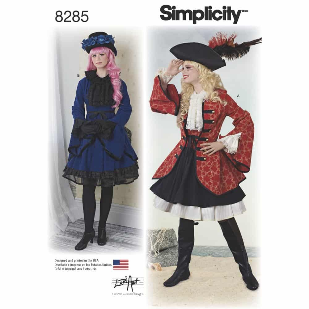 Simplicity Sewing Pattern 8285 Misses Costumes from Lori Ann Costume Design