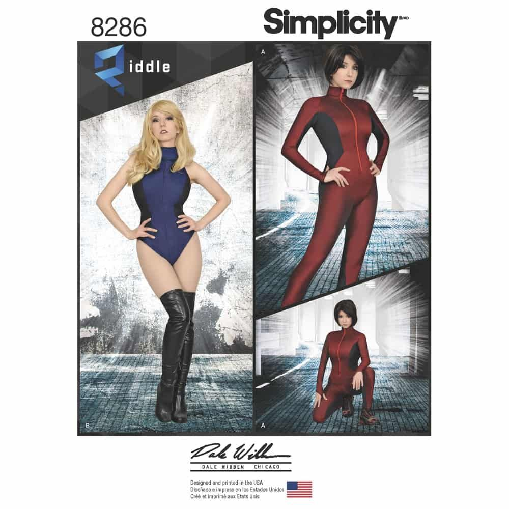 Simplicity Sewing Pattern 8286 Misses Knit and Woven Jumpsuit and Leotard