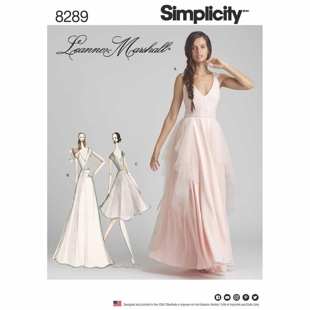 Simplicity Sewing Pattern 8289 Misses Special Occasion Dresses