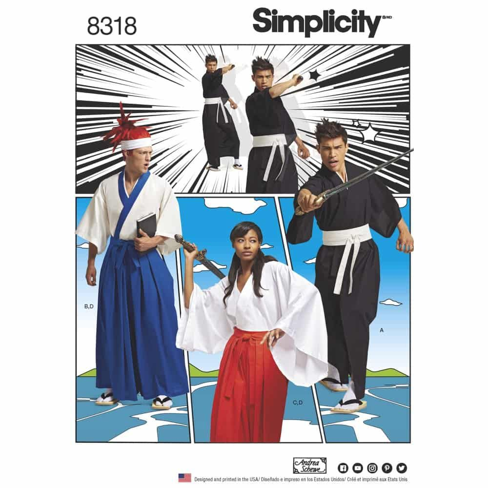Simplicity Sewing Pattern 8318 Misses, Mens and Teens Costumes