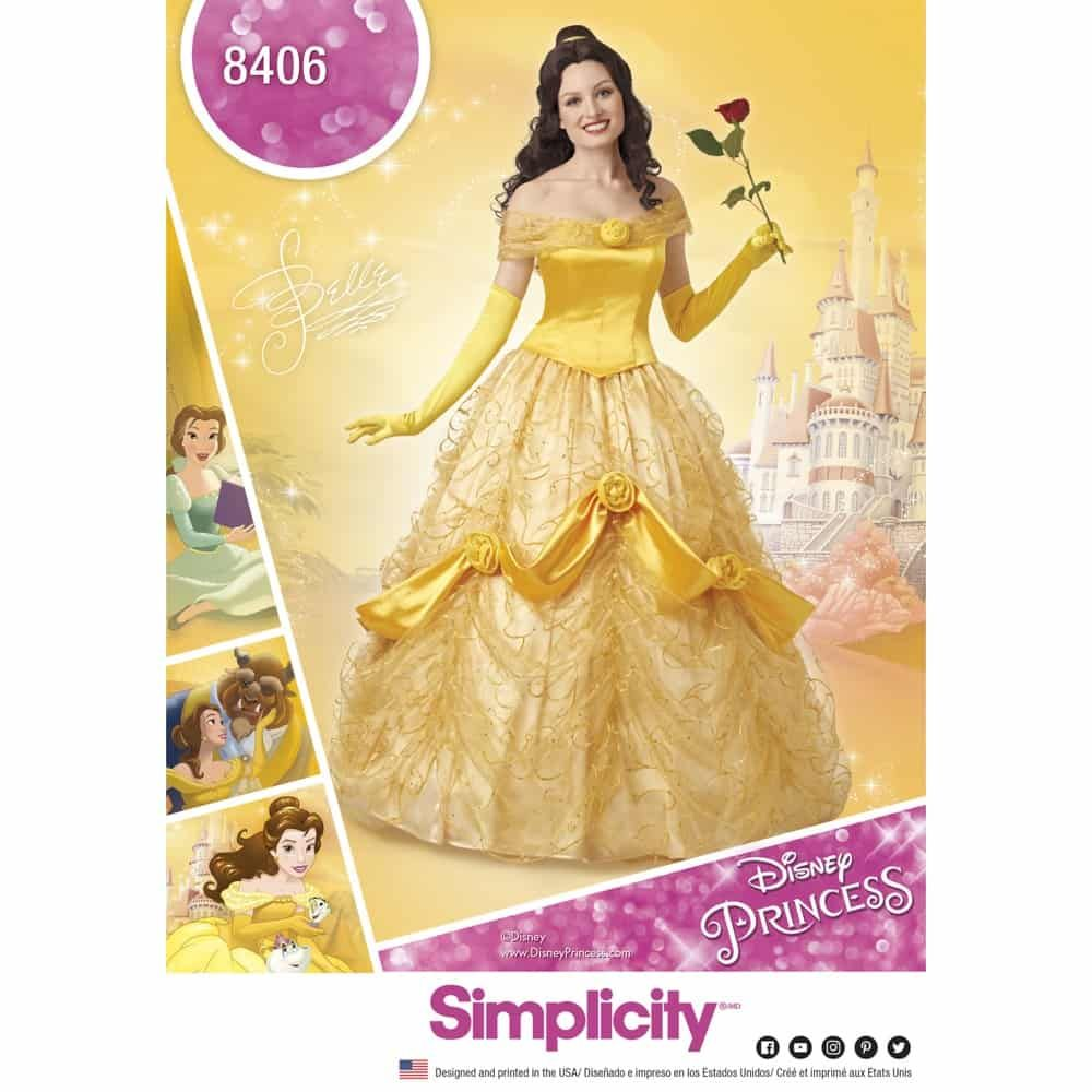 Simplicity Sewing Pattern 8406 Disney Beauty and the Beast Costume for Women