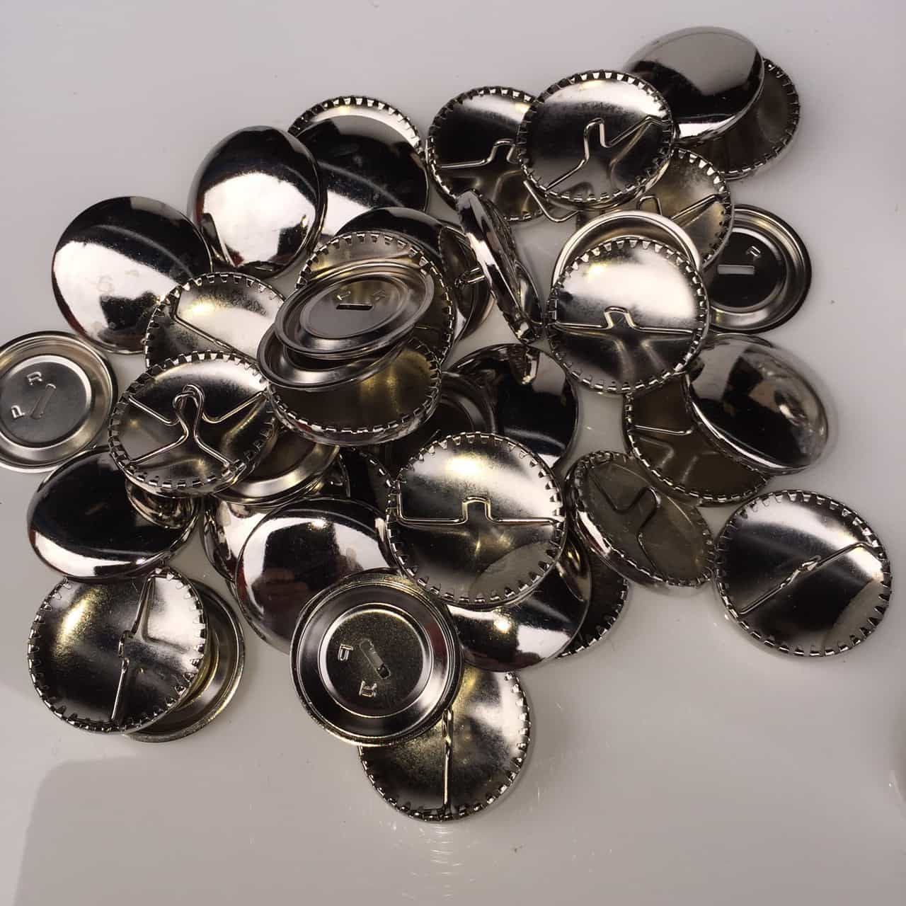 Self Cover Round Metal Buttons - 29mm