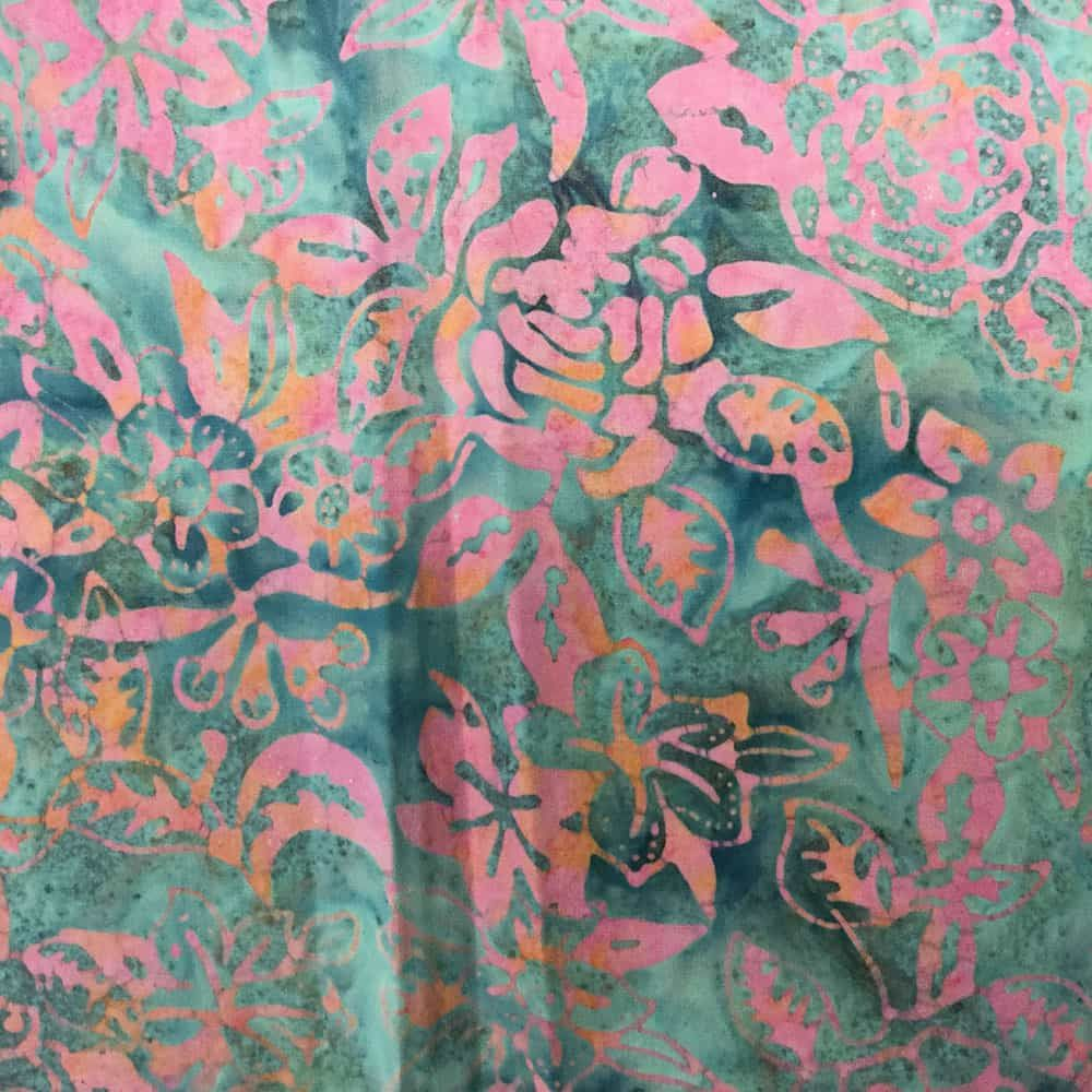 Sew Simple Batik - Batik - Rose Floral Pink