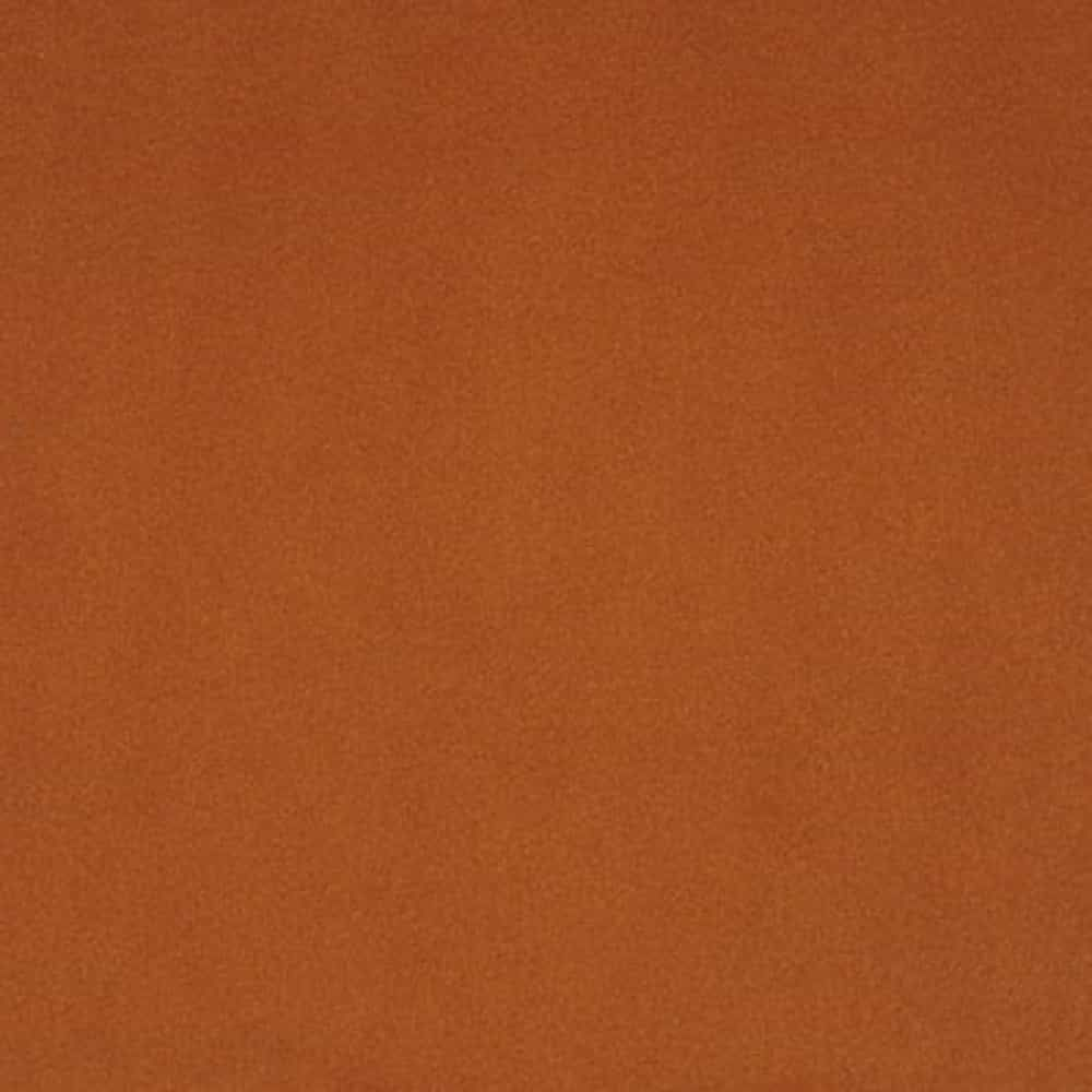 Remnant -Shannon - Smooth Plush Fabric - Rust - 50cm x 50cm - Bolt End/Creased