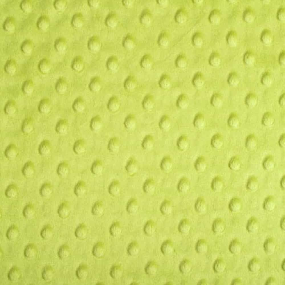 Remnant - Shannon Fabrics - Cuddle Dimple Plush Fabric - Apple Green - 62 x 150cm - Bolt End