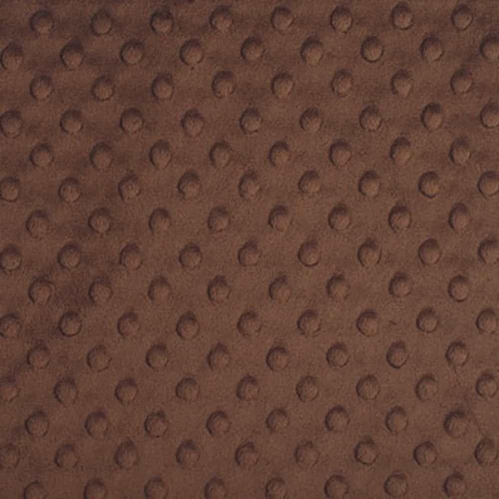 Remnant - Shannon - Dimple Plush Fabric - Brown - 75cm x 75cm - Creased