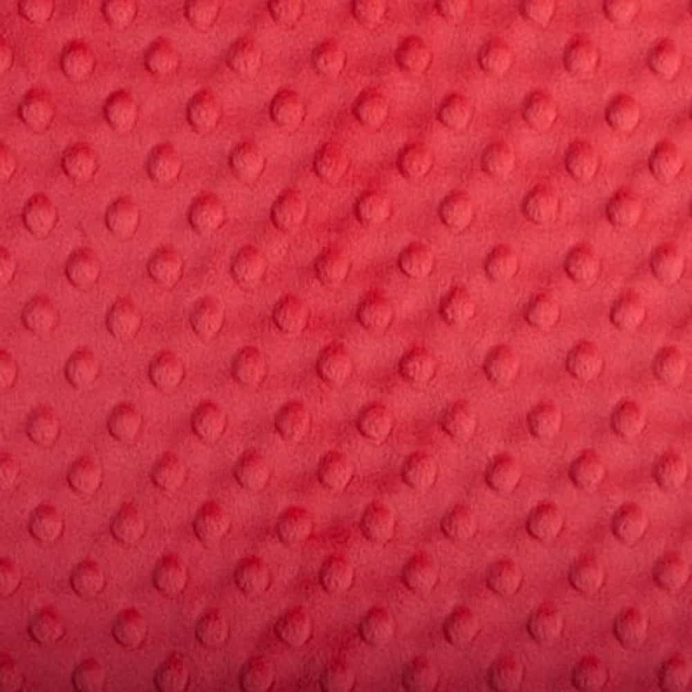 Remnant -Shannon Dimple Plush Fabric - Cherry Red - 55 x 150cm - Bolt End