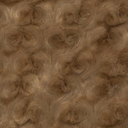 Shannon Luxe Cuddle Rose Plush Fabric - Cappuccino