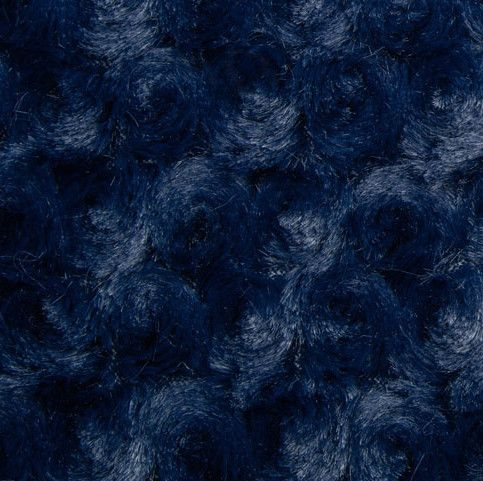 Remnant - Shannon Luxe Cuddle Rose Plush Fabric - Navy - 78 x 150cm