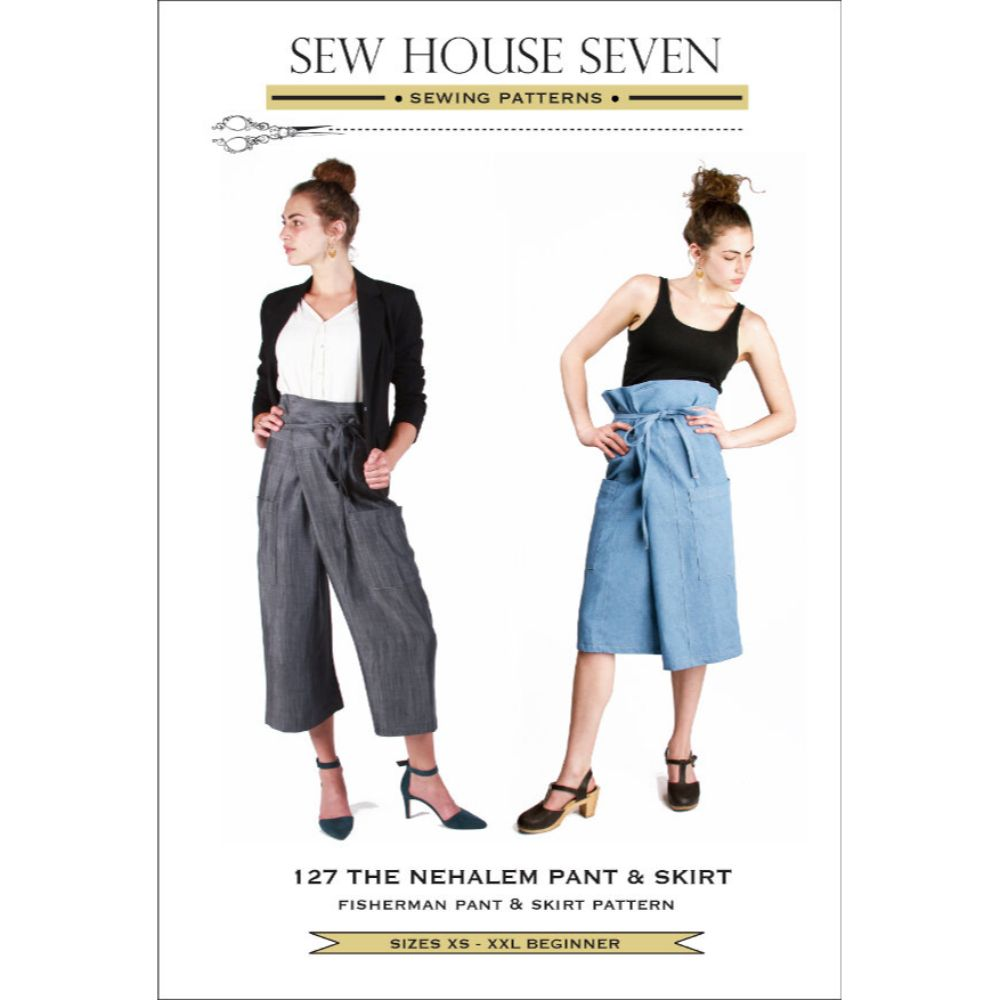 Sew House Seven -  The Nehalem Pant & Skirt Sewing Pattern