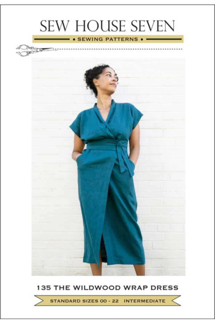 Sew House Seven -  Wildwood Wrap Dress Dress Sewing Pattern