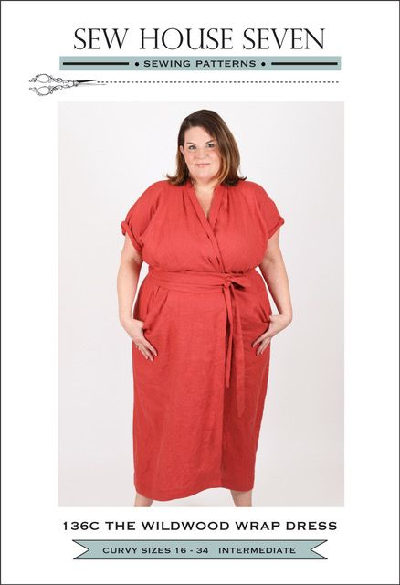 Sew House Seven -  The Wildwood Curvy Wrap Dress Pattern