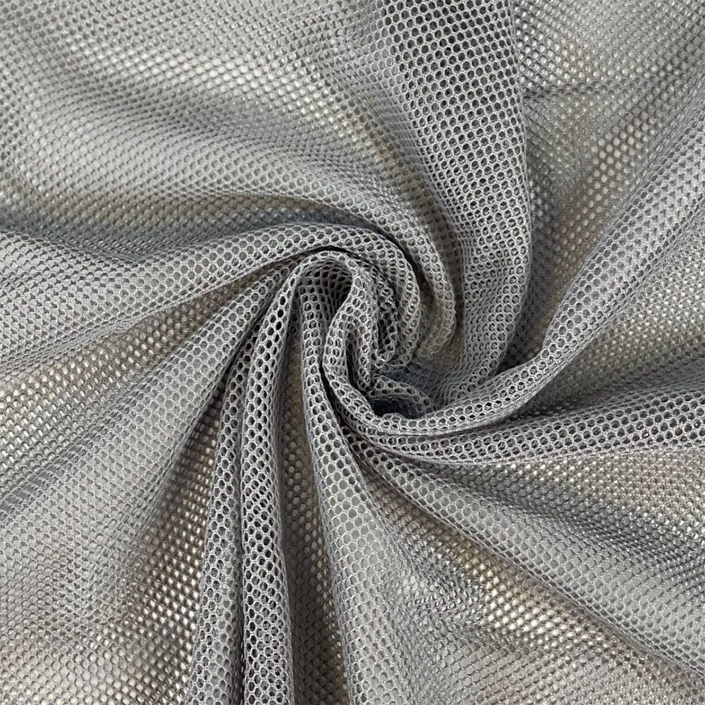 Silver Grey Mesh Fabric - Strong Light Weight Mesh For Bags And Crafts