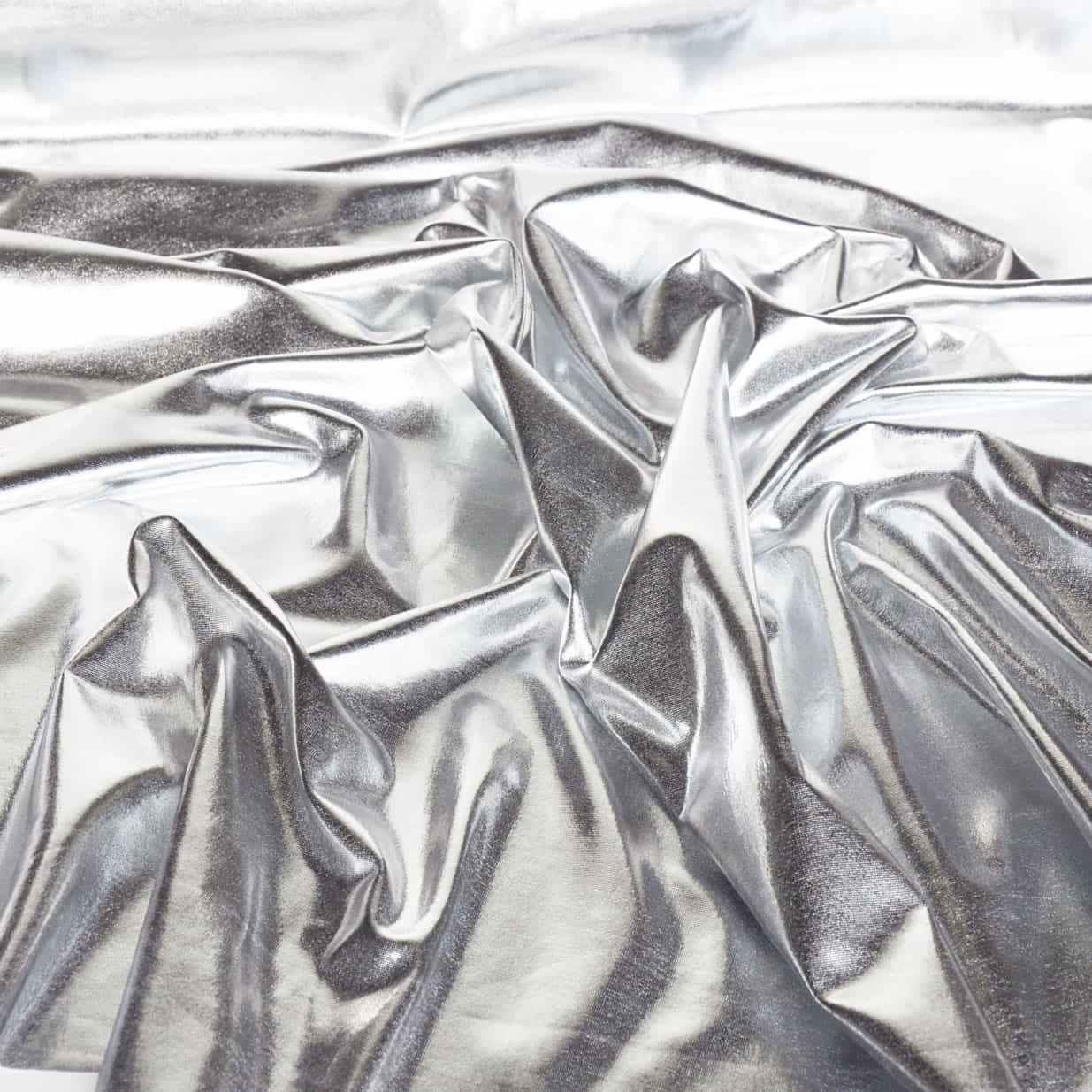 Metallic Silver Effect Stretch Dance Wear