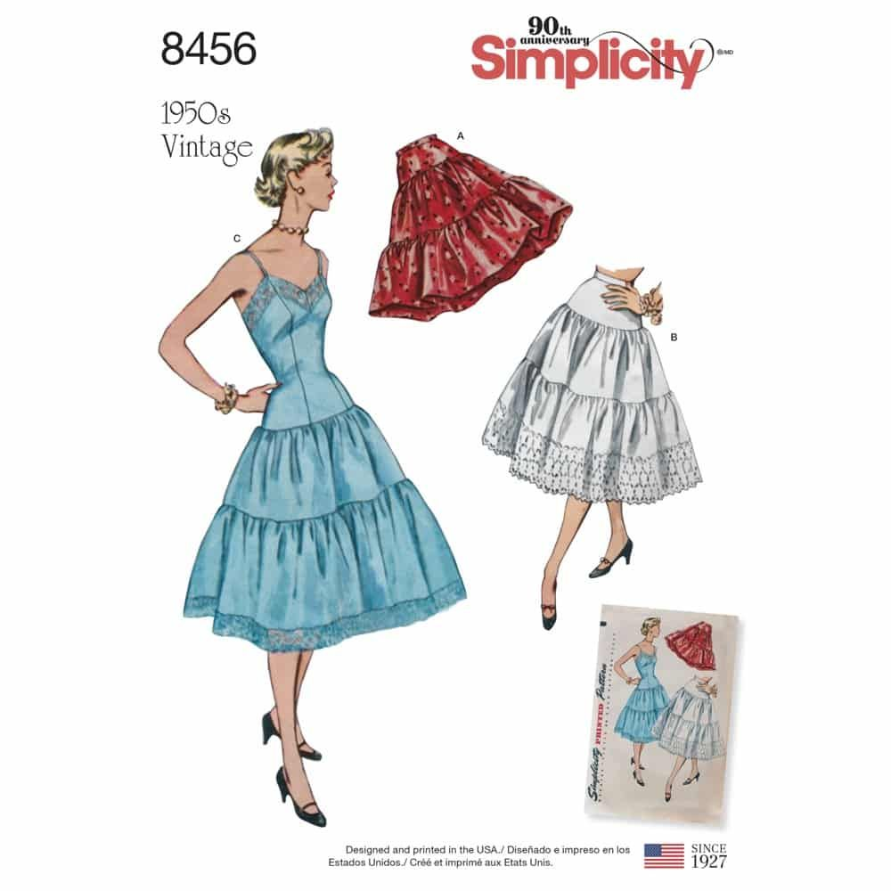 Simplicity Sewing Pattern 8456  Women_s Vintage Petticoat and Slip