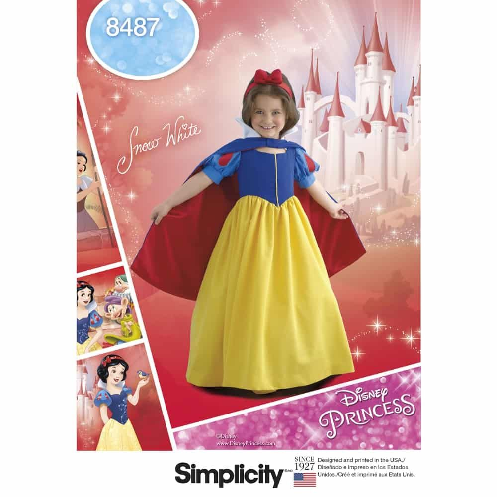 Simplicity Sewing Pattern 8487  Child's and Girls' Snow White Costume
