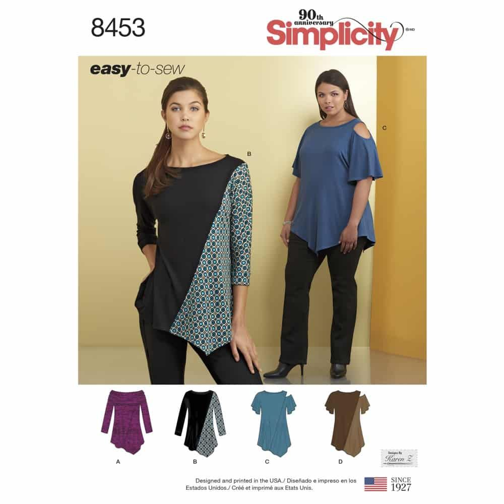 Simplicity Sewing Pattern 8453  Women_s Knit Tops