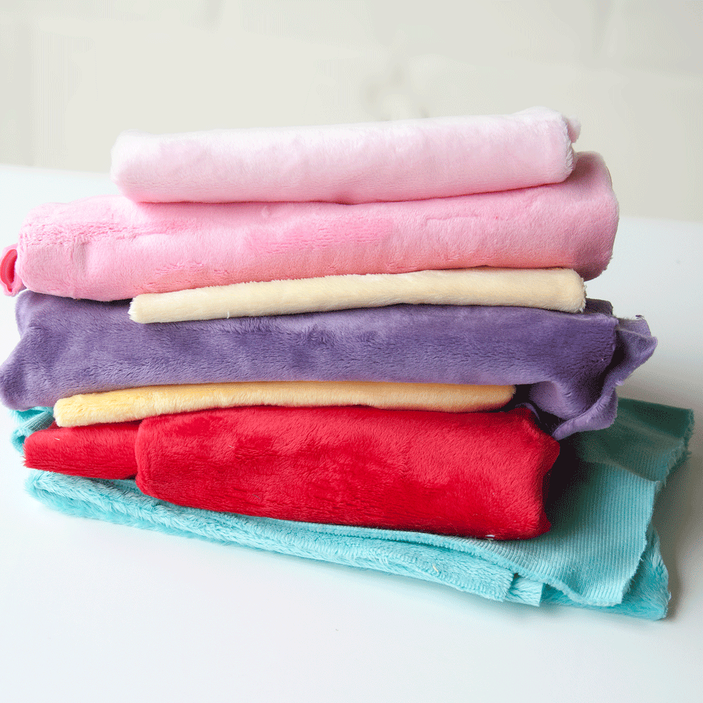 Smooth Plush Remnant Bundle: Girl Colours 1m approx