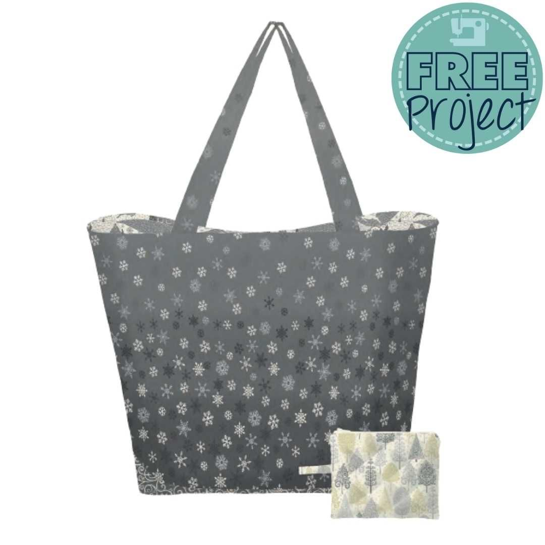 Makower - Scandi 2021 - Snowflake Bag Pouch and Coordinating Pouch - Free Instant Download