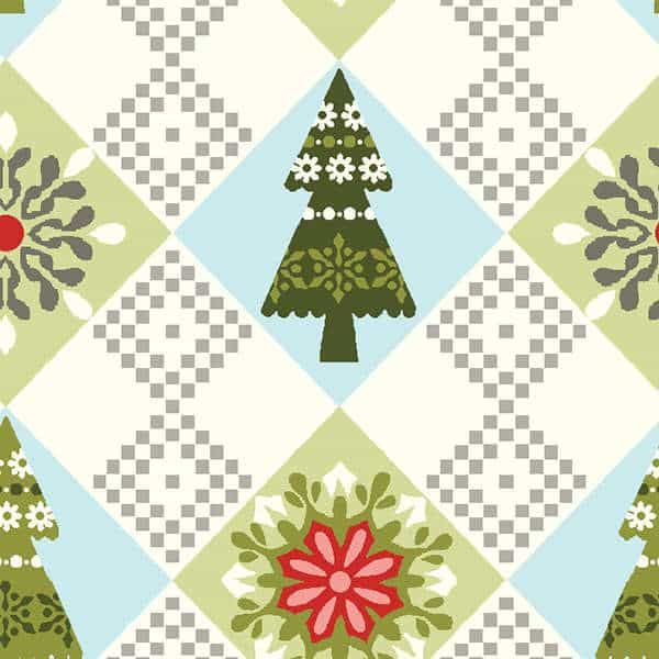 Studio E - O Christmas Tree Green Diamonds