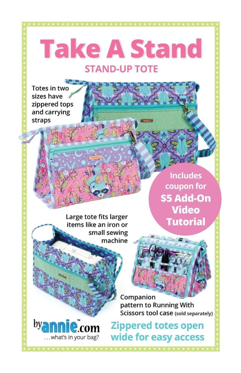 ByAnnie Sewing Pattern -  Take A Stand Tote Pattern