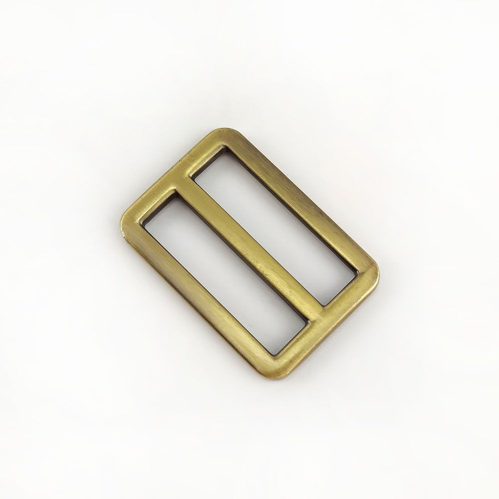 Metal Tri Glide Bag Buckles 38mm - For Bag Straps - Antique Brass