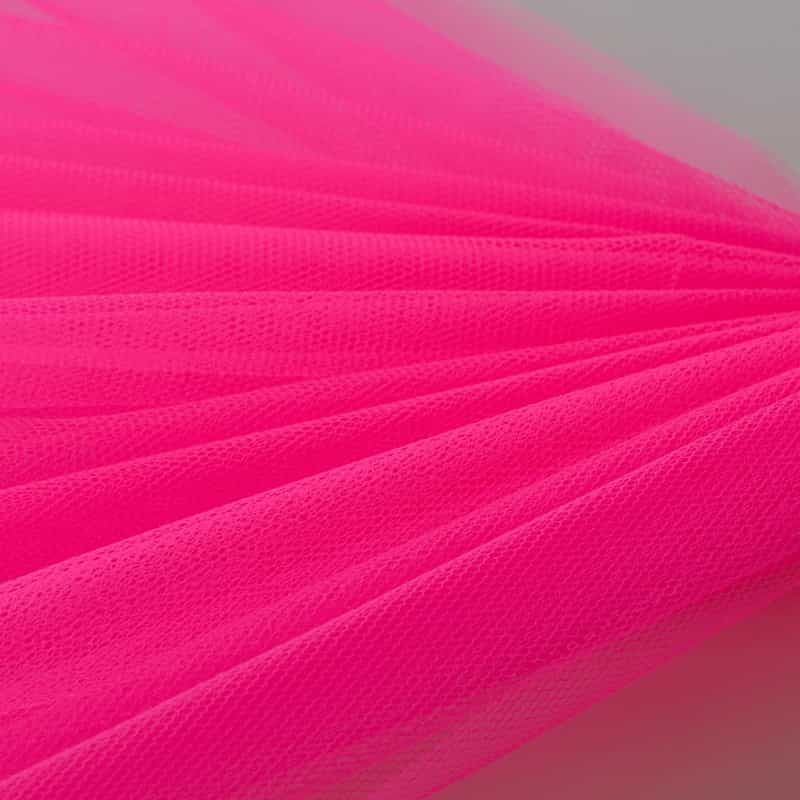 Dress Net - Flourescent Cerise