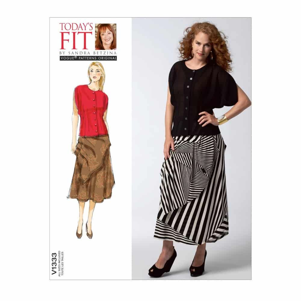 Vogue Sewing Pattern V1333 Misses' Blouse and Skirt