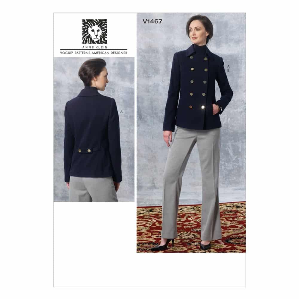 Vogue Sewing Pattern V1467 Misses' Jacket and Pants