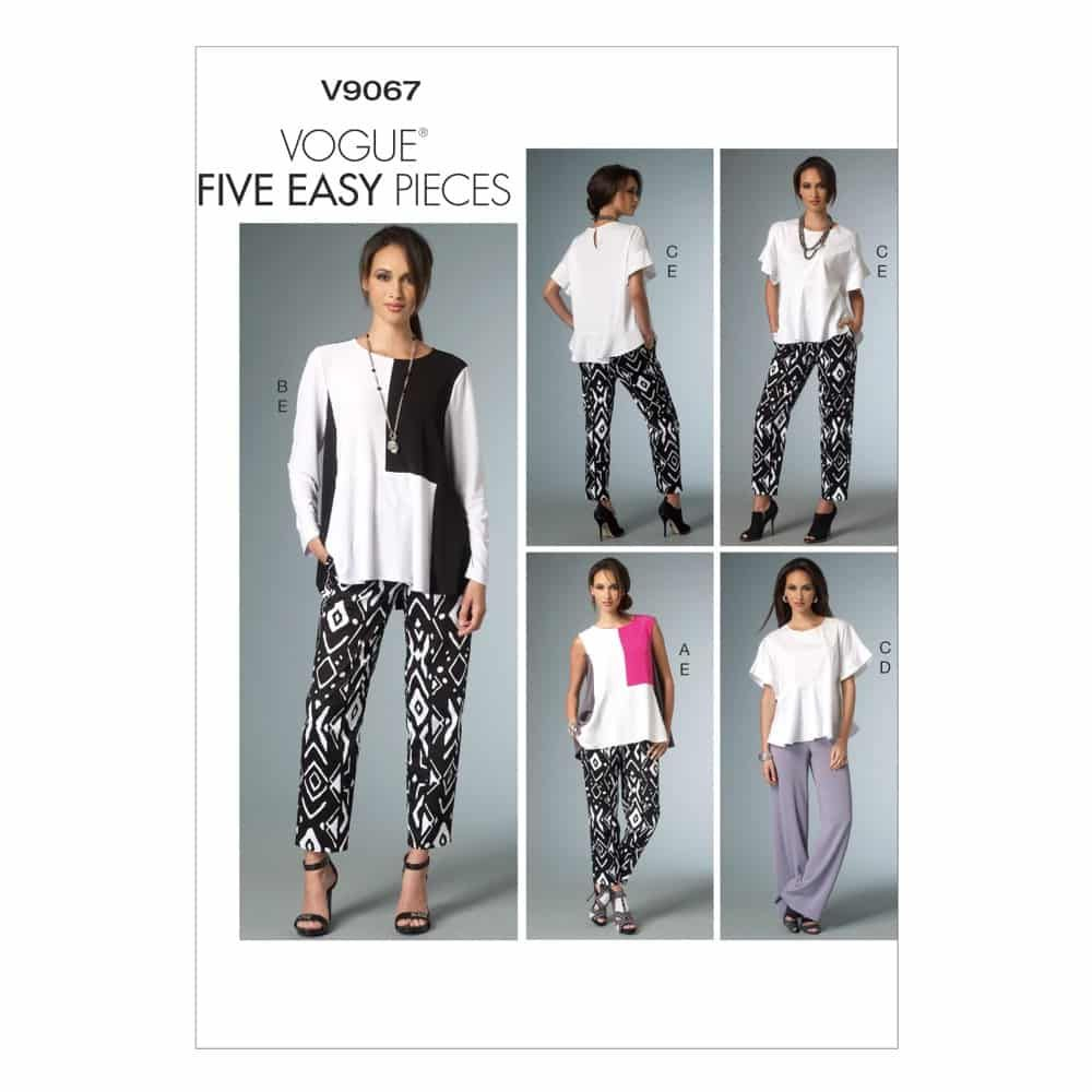 Vogue Sewing Pattern V9067 Misses' Top and Pants