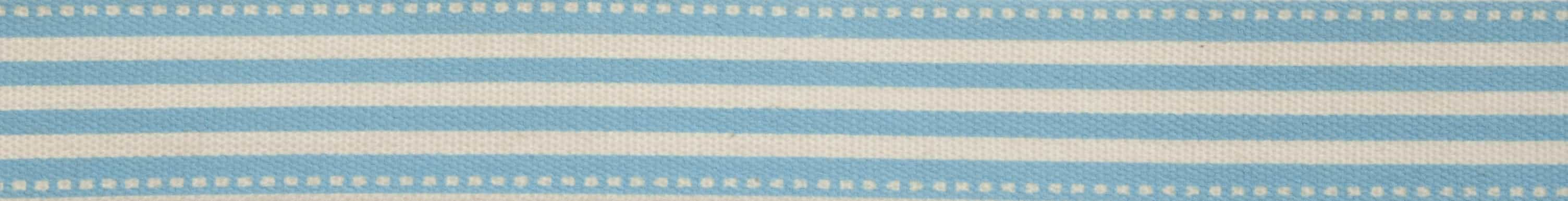 15mm Blue Striped Cotton Ribbon 5m Reel