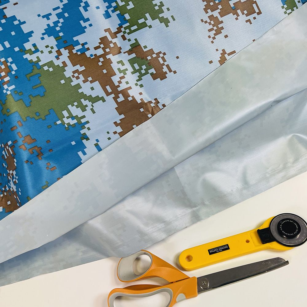 Waterproof Camouflage Fabric - Blue Camouflage Pixelated