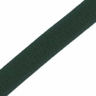 25mm Acrylic Herringbone Webbing Bottle Green