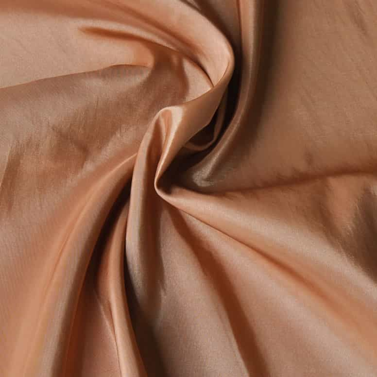 Remnant -Polyester Taffeta - Wheat - 58 x 145cm - Creased