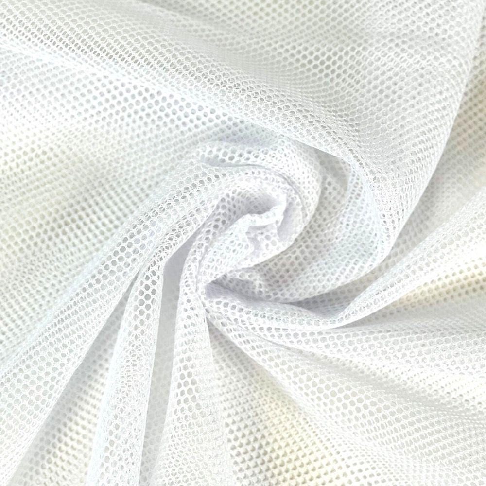 White Mesh Fabric - Strong Light Weight Mesh For Bags And Crafts