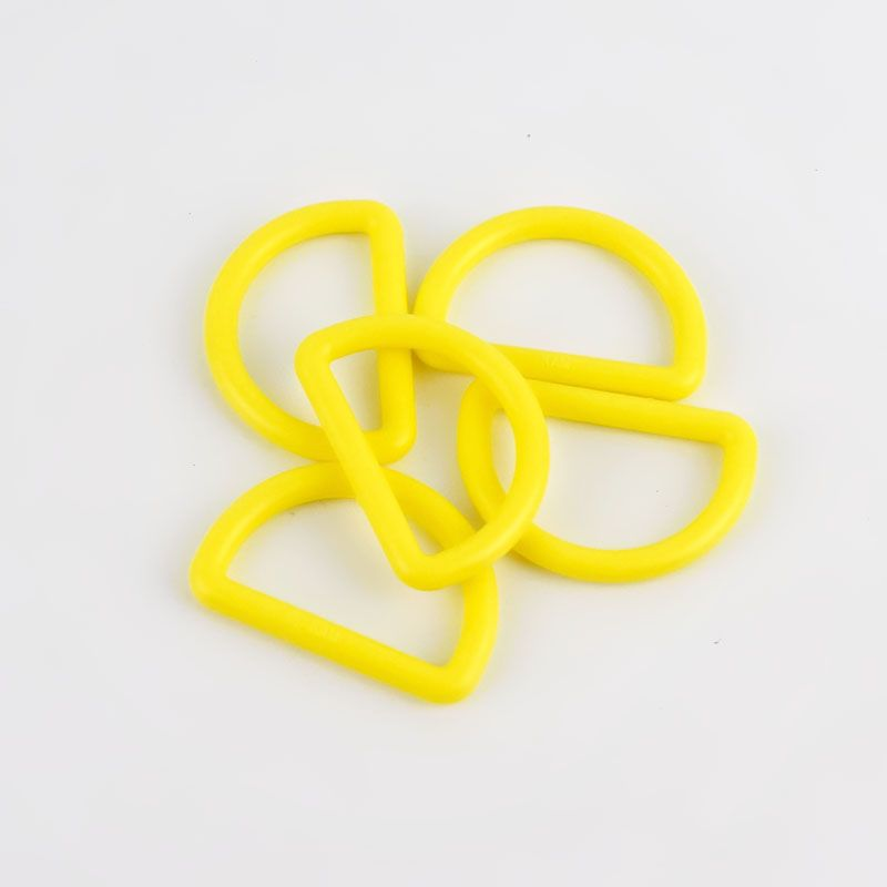 Strong Plastic D Rings 25mm - 2 Pack - Yellow