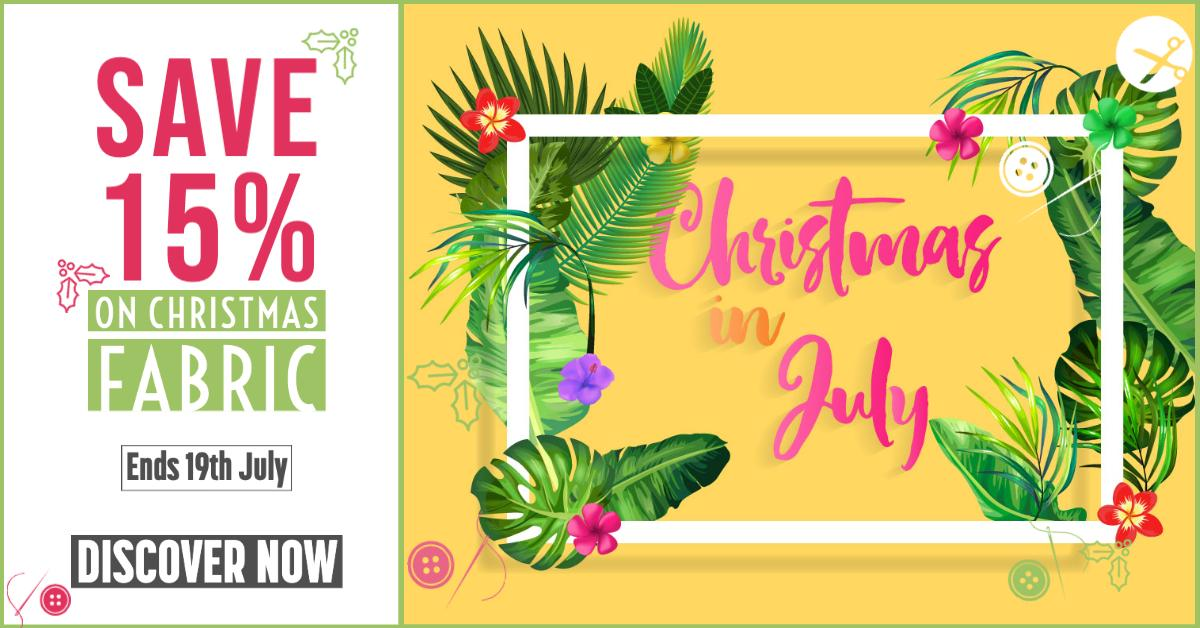 It's Christmas in July! Save 15% on Christmas fabric