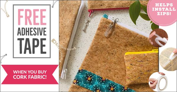 Free Adhesive Tape When You Buy Cork Fabric!