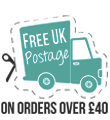 Free UK postage on orders over £40